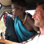 Patrick giving some Surma girls a lift.