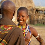 Arbore Girls Chatting - Omo Valley