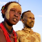 Dassanech Man & Girl - Dimi Ceremony