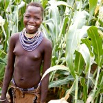 Karo Girl in the sorghum fields