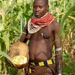 Karo Girl with Calabash