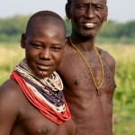 Karo Man & Girl, Omo Valley