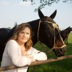Liz Earle with Horses