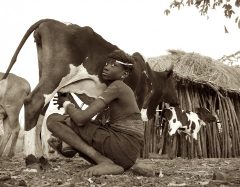 Omo Valley Tribes (Sepia Tones)