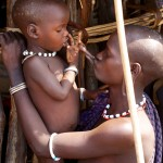 Mursi Woman & Child