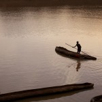 Dugout canoe on the Omo River 3