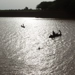 Dugout canoes on the Omo River 1