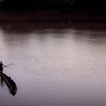 Dugout canoe on the Omo River 1