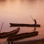 Dugout canoe on the Omo River 2
