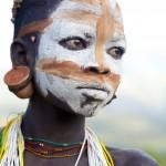 Painted Surma Girl - Close up