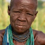 Portrait of an older Karo Woman, Omo Valley