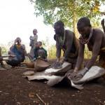 Surma family grinding maize 1