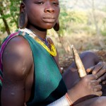Surma girl with cassava