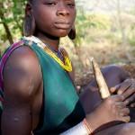 Surma girl with cassava