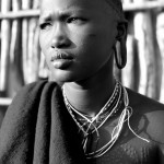 Portrait of a Surma girl