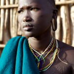 Surma girl with scarification
