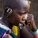 Contemplative Surma girl