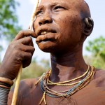 Surma woman painted with mud - portrait