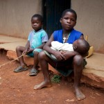 AIDS Orphans, Siaya, Western Kenya.