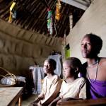 Jennifer and her children - Northern Tanzania