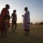 Early morning Maasai meeting