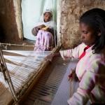Weaver. Kechene slum, Addis Ababa, Ethiopia