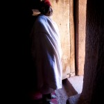 Orthodox Priest in Doorway, Lalibela, Ethiopia