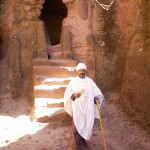 Orthodox Priest outside Adam's Tomb, Lalibela, Ethiopia
