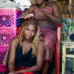 Hairdressing salon, Kome Island, Tanzania