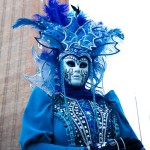 Venice Carnival Lady in Blue