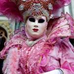 Venice Carnival Lady in Pink
