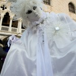 Venice Carnival Lady in White