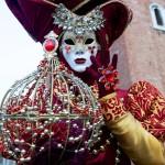 Venice Carnival Red & Gold