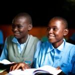 Rachael Simiyu in class, Orphan, Southend Academy, Bungoma, Kenya