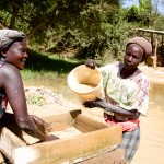 Sifting the powdered ore, Migori Gold Mine, Kenya